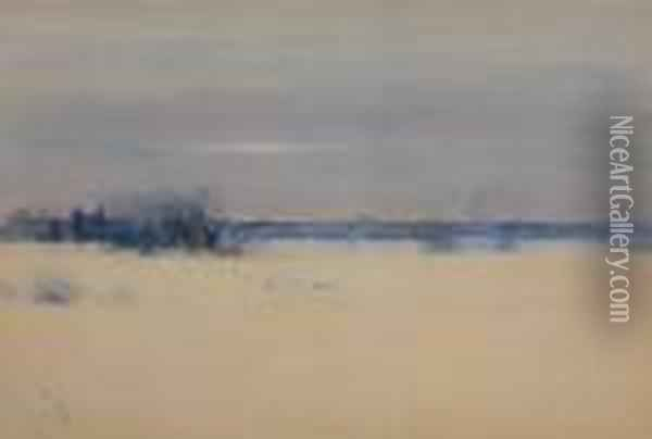 Winter Sky Oil Painting - Bruce Crane