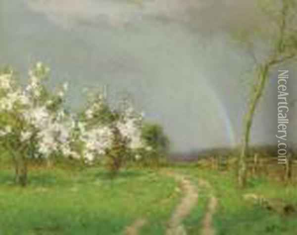 After The Rain Oil Painting - Bruce Crane