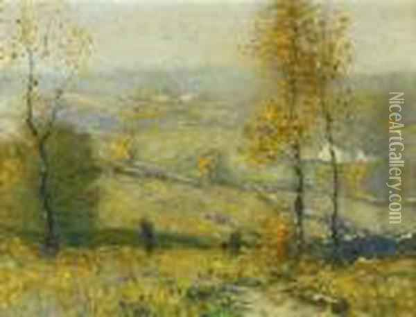 Autumn In Thecountryside Oil Painting - Bruce Crane