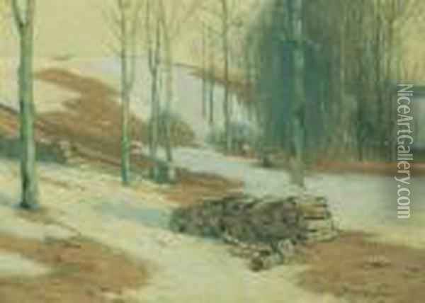 ''spring Thaw'' Oil Painting - Bruce Crane