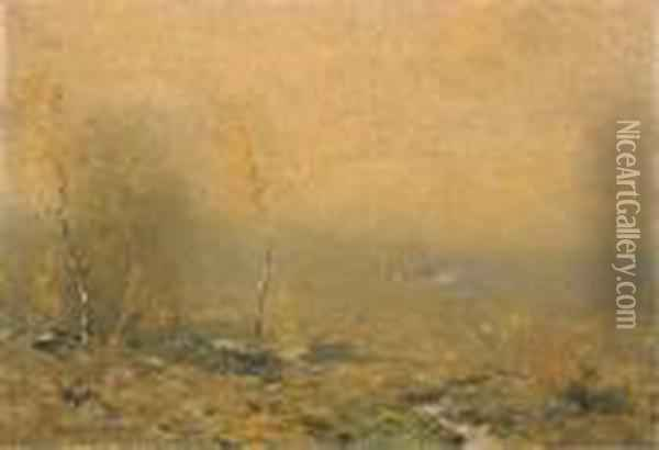 Golden Weather Oil Painting - Bruce Crane