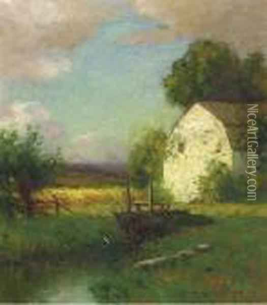 A Barn In Summer Oil Painting - Bruce Crane