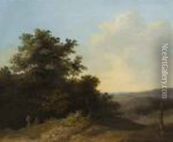 Wooded Landscape Oil Painting - John Crome