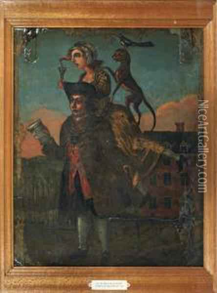 The Man With A Load Of Mischief Oil Painting - John Crome