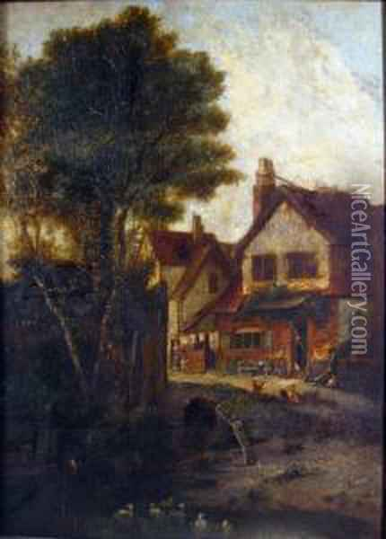St. Martins Old Houses Oil Painting - John Crome