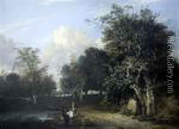 The Grove Scene Oil Painting - John Crome