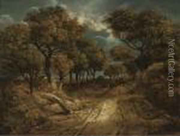 A Path On Mouse Hole Heath Oil Painting - John Crome