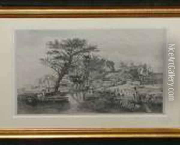 Back Of The New Mills Oil Painting - John Crome