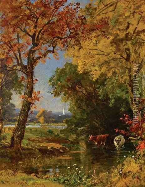 Autumn Scene Oil Painting - Jasper Francis Cropsey