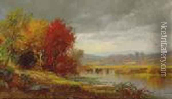 October Oil Painting - Jasper Francis Cropsey
