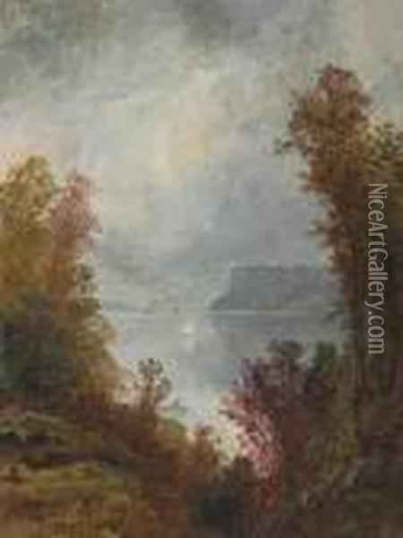 View Of The Hudson River, Autumn Oil Painting - Jasper Francis Cropsey