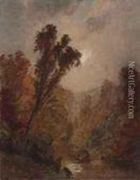 Autumn Oil Painting - Jasper Francis Cropsey