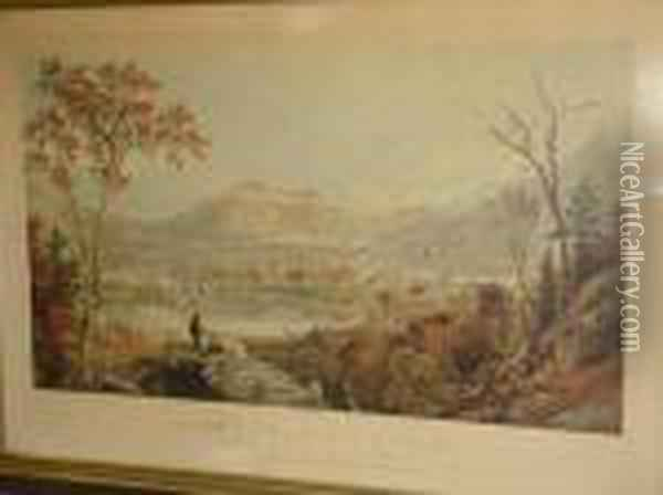 American Autumn, Starucca Valley, Erie Road Oil Painting - Jasper Francis Cropsey