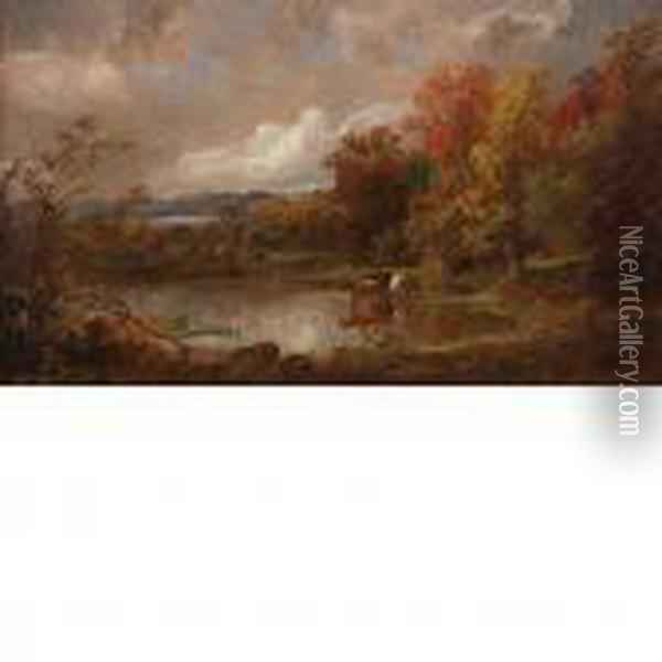 Fall Landscape Oil Painting - Jasper Francis Cropsey