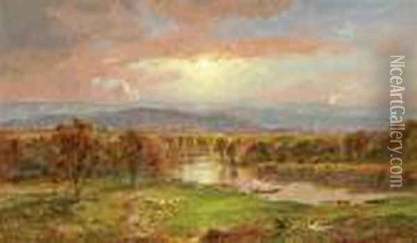 On The Susquehanna River Oil Painting - Jasper Francis Cropsey