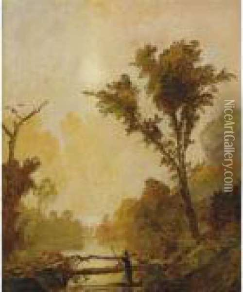 Autumn In The Ramapo Valley Oil Painting - Jasper Francis Cropsey