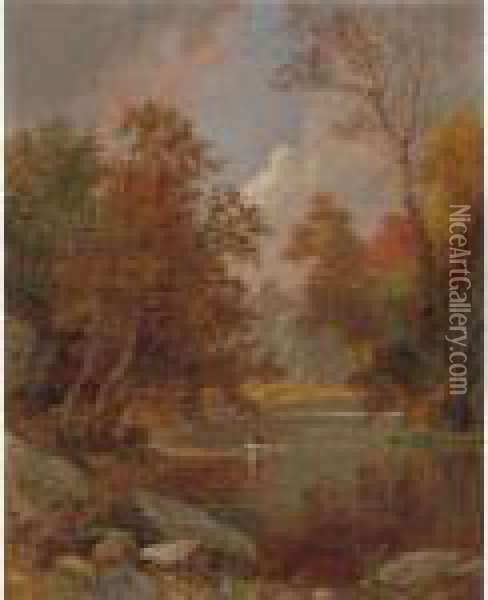 Autumn On The River Oil Painting - Jasper Francis Cropsey