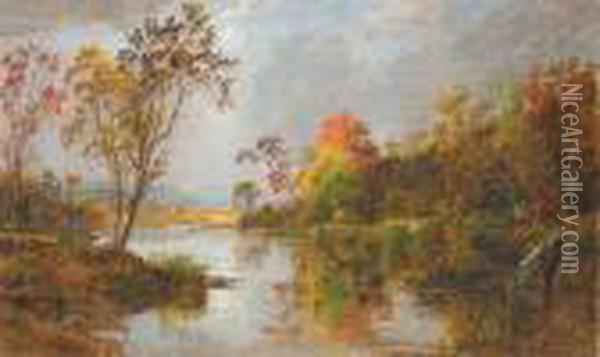 An Autumn Morning Oil Painting - Jasper Francis Cropsey