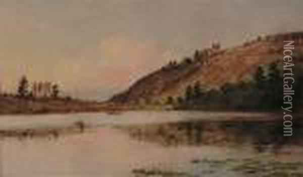 Boating On Greenwood Lake Oil Painting - Jasper Francis Cropsey