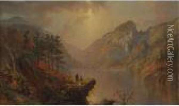Eagle Cliff, White Mountains Oil Painting - Jasper Francis Cropsey
