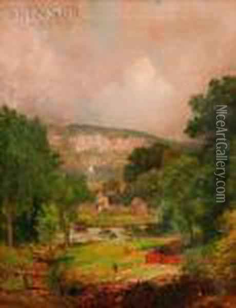 Looking Down The Ravine At Hastings Oil Painting - Jasper Francis Cropsey