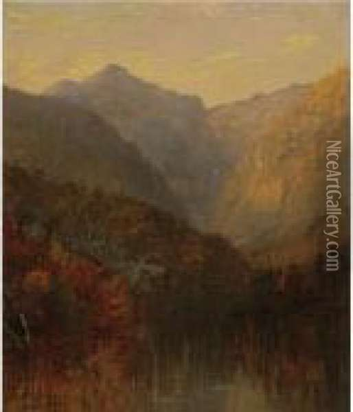Mount Monroe, White Mountains, New Hampshire Oil Painting - Jasper Francis Cropsey