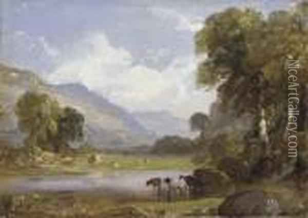 Summer Landscape Oil Painting - Jasper Francis Cropsey