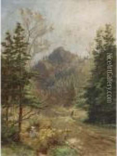 Greenwood Notch, New Jersey Oil Painting - Jasper Francis Cropsey