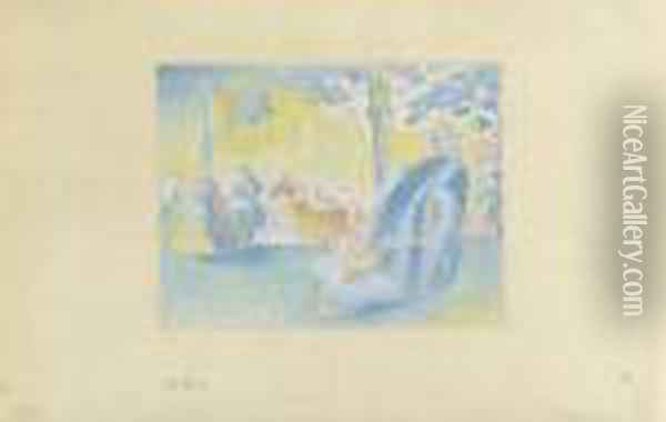 Aux Champs-elysees Oil Painting - Henri Edmond Cross