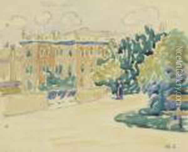 Le Parc Oil Painting - Henri Edmond Cross