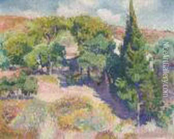 Cypres Oil Painting - Henri Edmond Cross