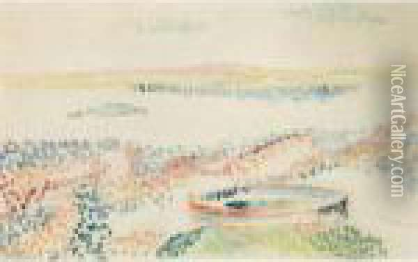 La Barque Oil Painting - Henri Edmond Cross