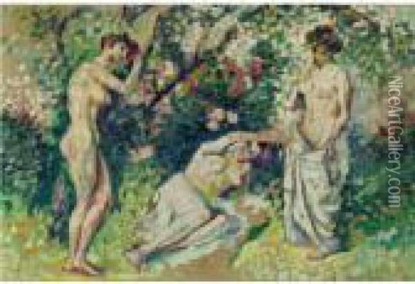 Nus Oil Painting - Henri Edmond Cross