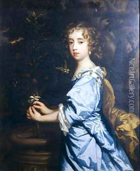 Isabella Dormer aged 8 Oil Painting - Sir Peter Lely