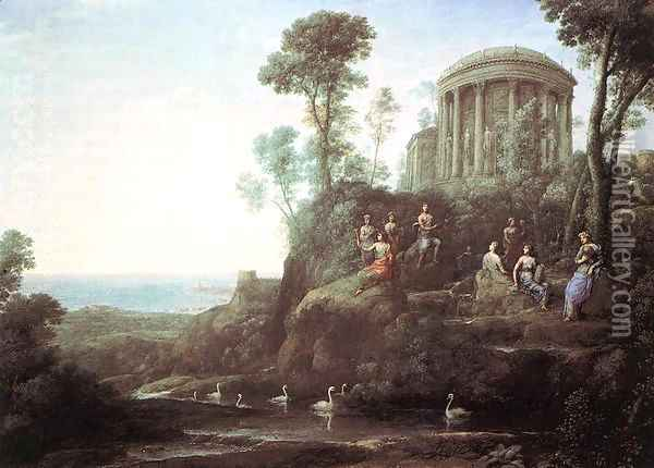 Apollo and the Muses on Mount Helion (Parnassus) 1680 Oil Painting - Claude Lorrain (Gellee)