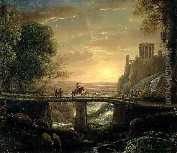 Landscape with an Imaginary View of Tivoli, 1642 Oil Painting - Claude Lorrain (Gellee)