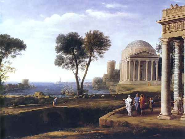 Landscape with Aeneas at Delos, 1672 Oil Painting - Claude Lorrain (Gellee)