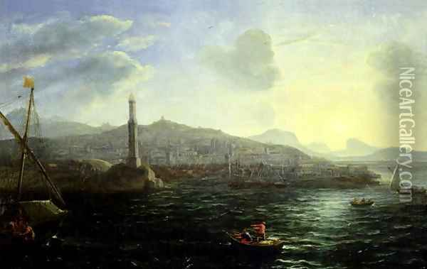 The Port of Genoa, Sea View Oil Painting - Claude Lorrain (Gellee)