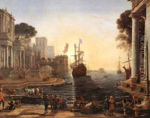 Ulysses Returns Chryseis to her Father 1648 Oil Painting - Claude Lorrain (Gellee)