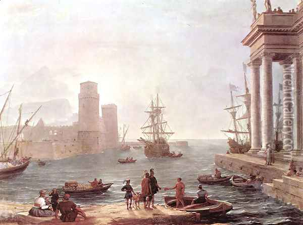 Departure Of Ulysses From The Land Of The Feaci Oil Painting - Claude Lorrain (Gellee)