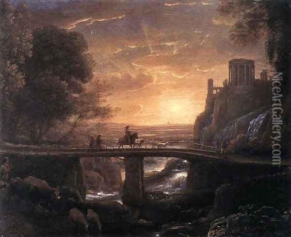 Imaginary View of Tivoli 1642 Oil Painting - Claude Lorrain (Gellee)