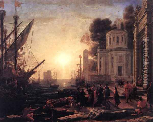 The Disembarkation of Cleopatra at Tarsus 1642-43 Oil Painting - Claude Lorrain (Gellee)