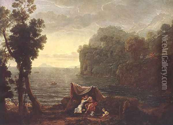 Landscape with Acis and Galathe 1657 Oil Painting - Claude Lorrain (Gellee)