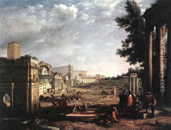 The Campo Vaccino, Rome Oil Painting - Claude Lorrain (Gellee)