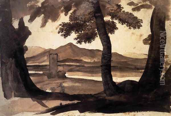View of the Campagna Oil Painting - Claude Lorrain (Gellee)