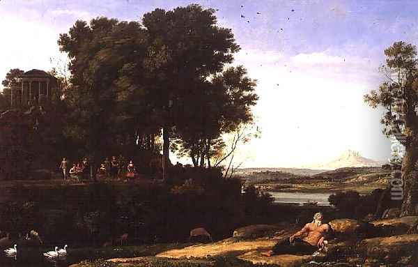 Landscape with Apollo and the Muses, 1652 Oil Painting - Claude Lorrain (Gellee)
