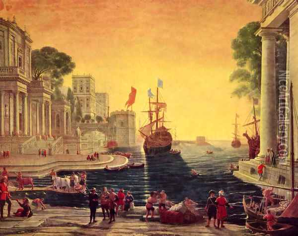 Odysseus returns Chryseis to Her Father Oil Painting - Claude Lorrain (Gellee)