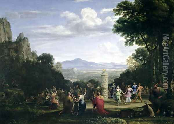 The Adoration of the Golden Calf, 1660 Oil Painting - Claude Lorrain (Gellee)