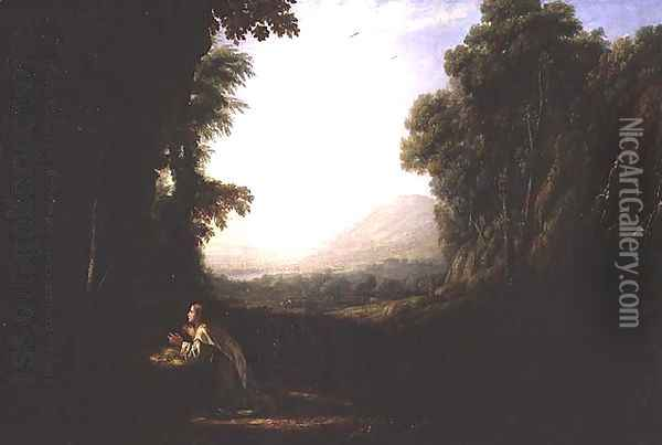 Landscape with the Repentant Magdalene Oil Painting - Claude Lorrain (Gellee)