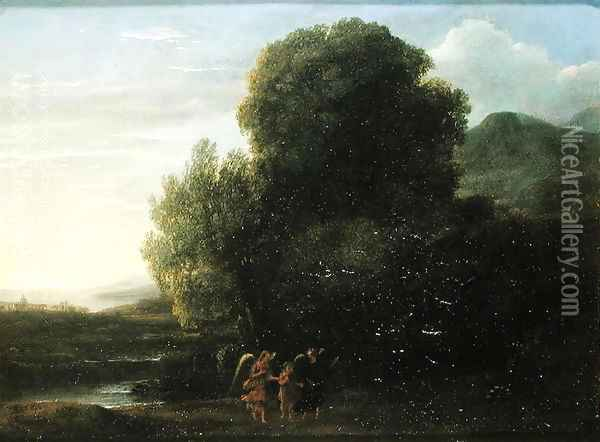 Landscape with St John the Baptist Oil Painting - Claude Lorrain (Gellee)